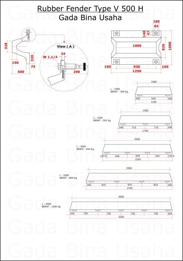 Rubber Fender V H 500