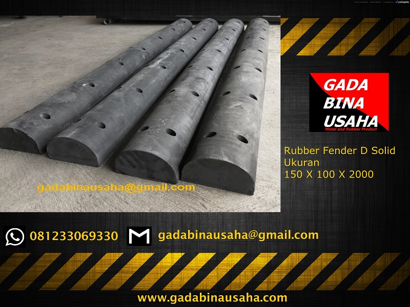 rubber fender D solid